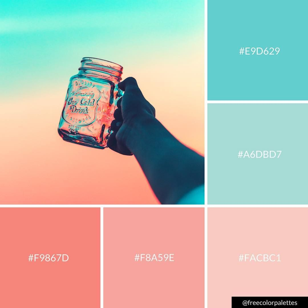 Pastel Color Palette: Sunset And Sunrise