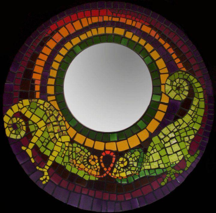 Espejo de mosaico | Reciclado, Manualidades y buenas ideas ...