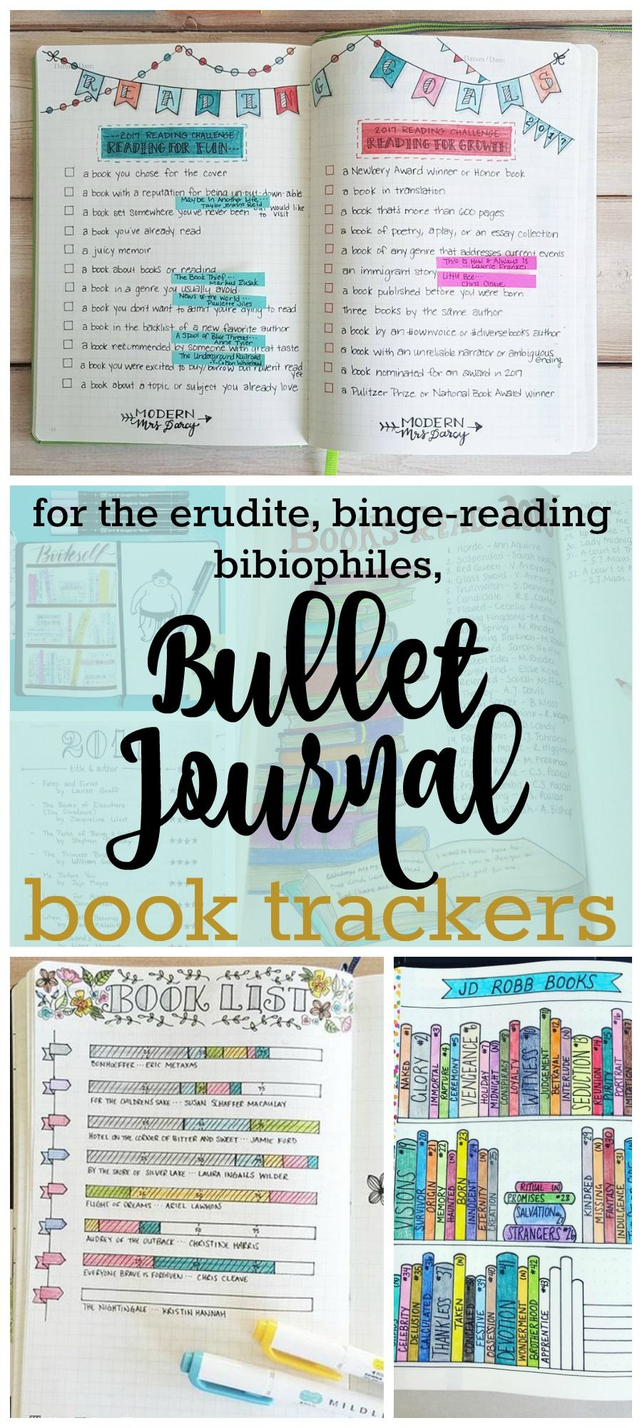 keep track of books to read in your bullet journal journaling