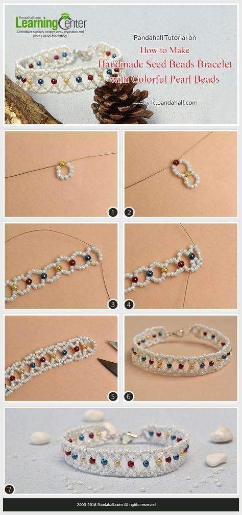 Pandahall Tutorial on How to Make Handmade Seed Beads Bracelet with Colorful Pearl Beads #pearljewelry