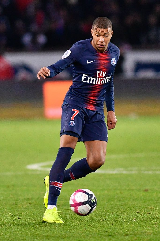 Killian Mbappe during the french Ligue 1 match between