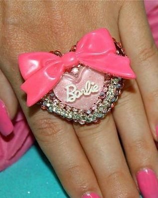Barbie Pink Bow Bling Ring                                                                                                                         ✻~BarbieWorld~✻