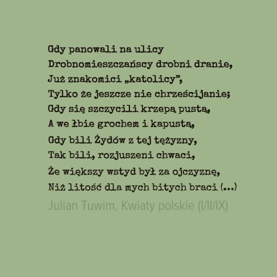 Julian Tuwim Wiersze Sentencje I Poezja