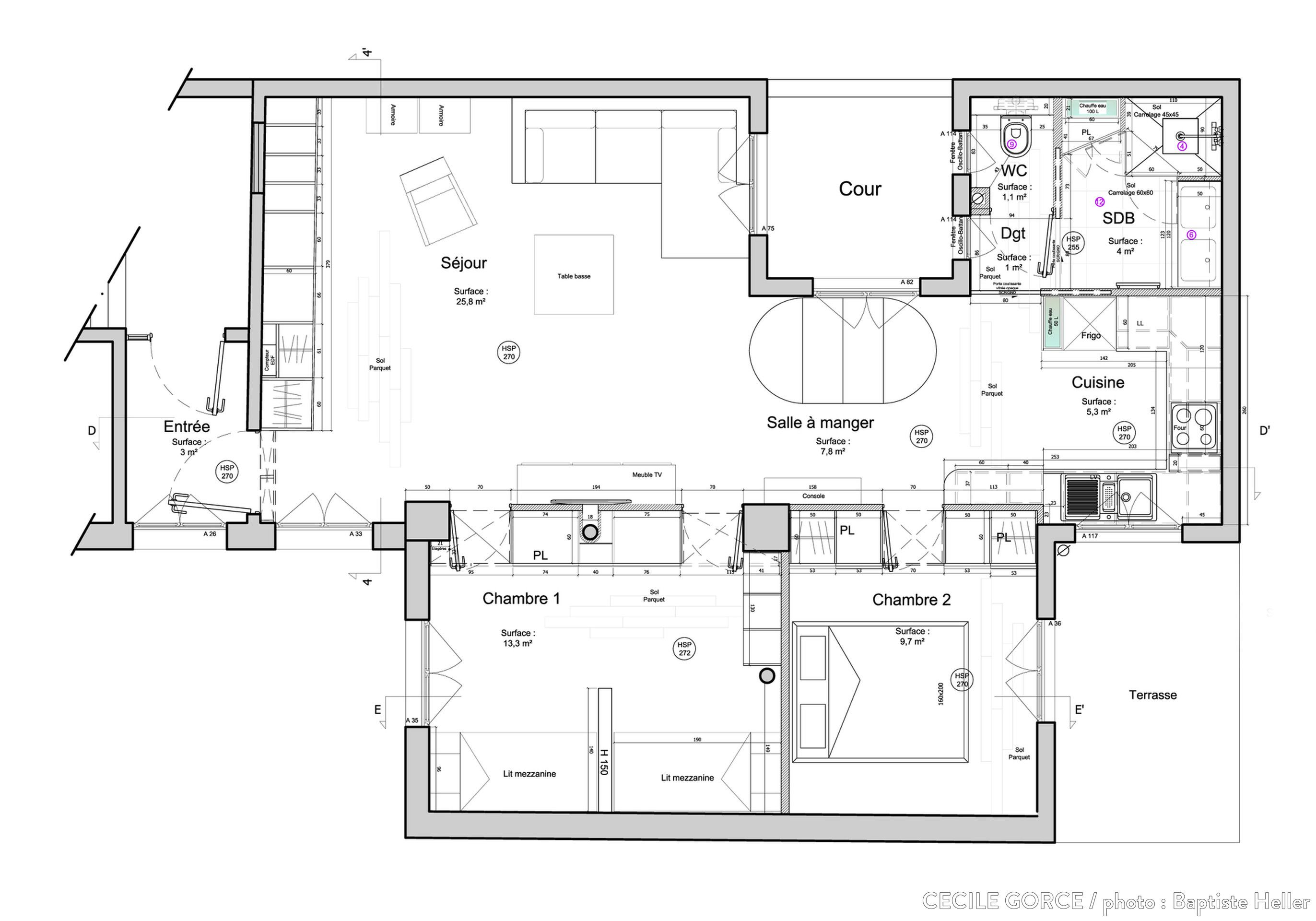 Plan D'appartement Plan D Un Appartement Lumineux Plans Appartement Cote Maison