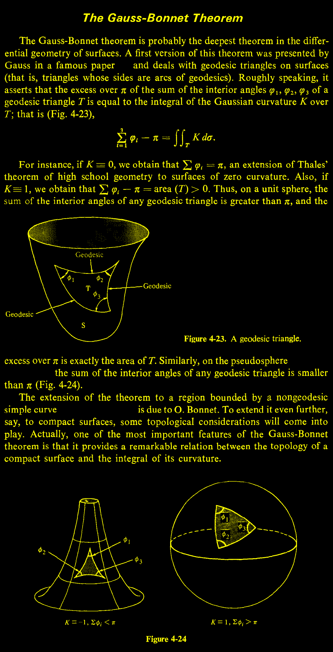 The Gauss Bonnet Theorem Mathematik Naturwissenschaft Physik