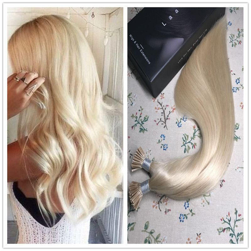 I Tip Pre Bonded Keratin Remy Human Hair Extensions Straight Style