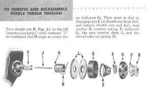tension diagramme singer 401a tension assembly diagram google search  with images  singer 401a tension assembly diagram
