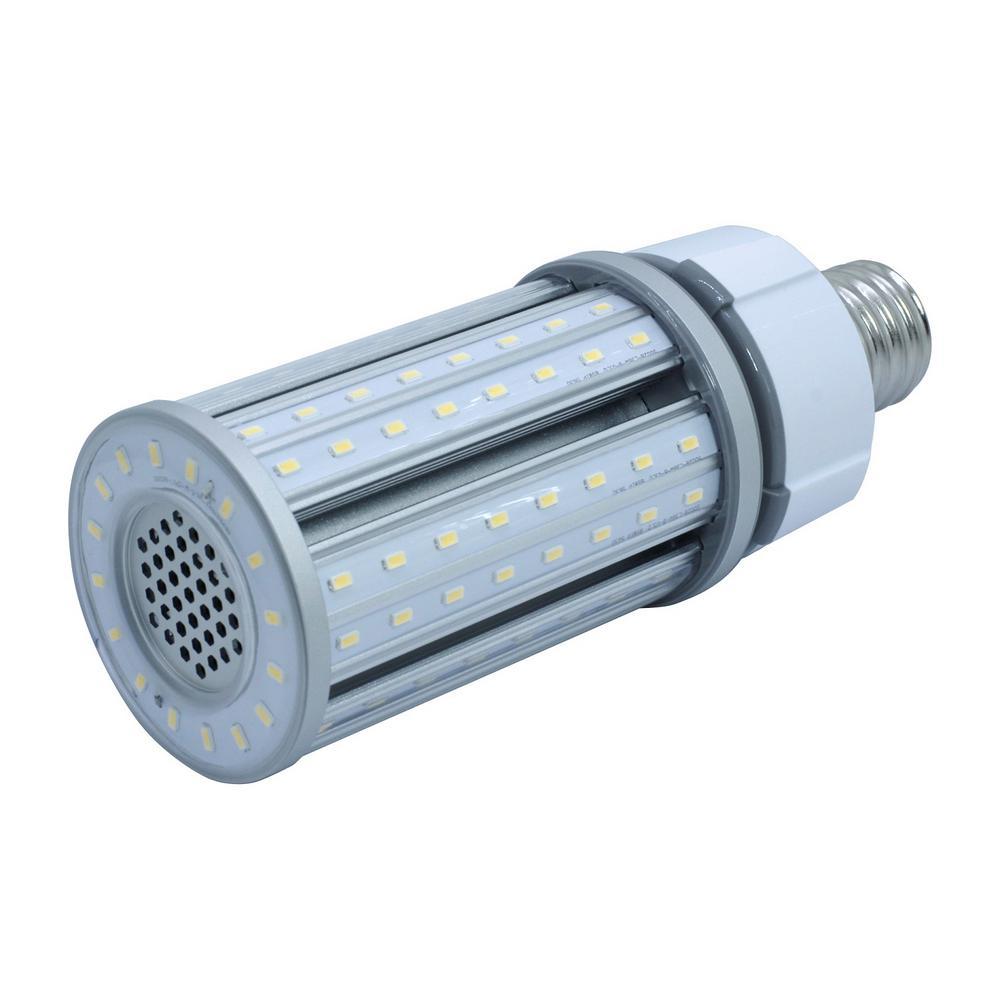 Halco Lighting Technologies 150 Watt Equivalent 36 Watt Corn Cob Ed28 Hid Led Post Top Bypass Utility Light Bulb Mog 120 277v Cool White 4000k 84006 Products