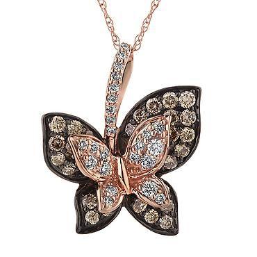 Le Vian Chocolate Diamond Butterfly Pendant 3/4ctw | Shop REEDS Jewelers