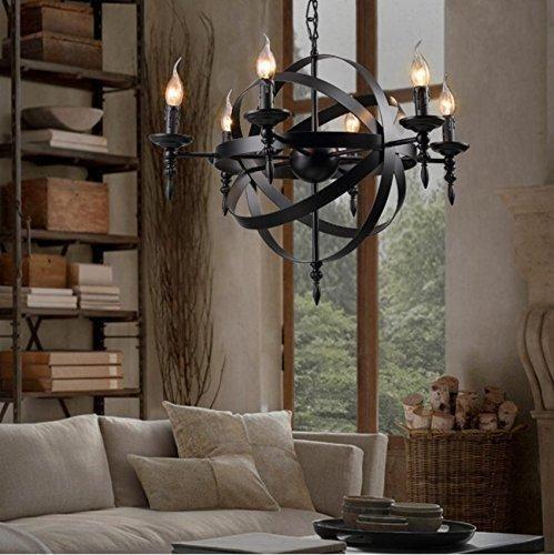 COLORLED Retro Industrial Vintage 12Light Wrought Iron Candle – Wrought Iron Candle Chandelier