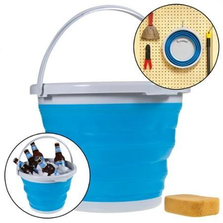 Simply Genius Foldable Silicone 10l Bucket 2 6 Gallon Collapsible Clean Camp Car Walmart Com Collapsible Bucket Clean Camping Car Camping