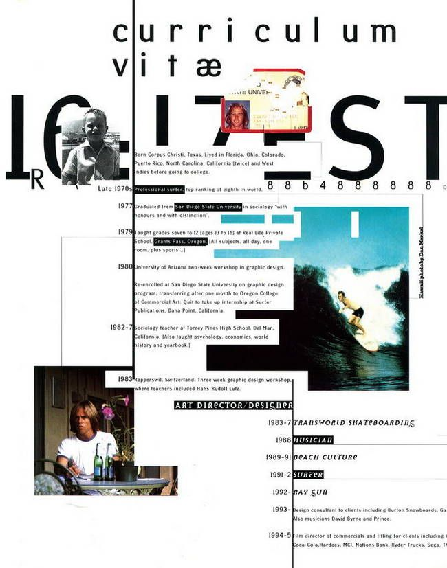 995 - CURRICULUM VITAE FOR HIMSELF THE END OF PRINT \/ LEWIS - visual cv resume
