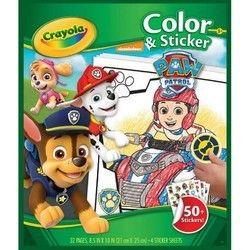 Crayola Paw Patrol Colour & Sticker Book K499-30360710 | Paw patrol ...