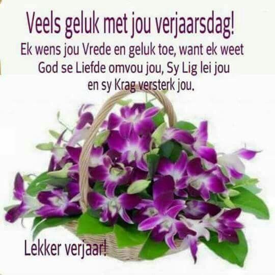 Veels Geluk Met Jou Verjaardag Afrikaans My ♡taal
