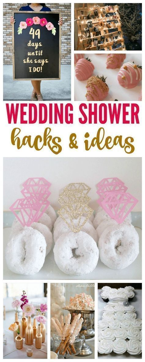 Wedding Shower Hacks & Ideas! How to throw the best bridal shower for a bride to be! #weddinghacks