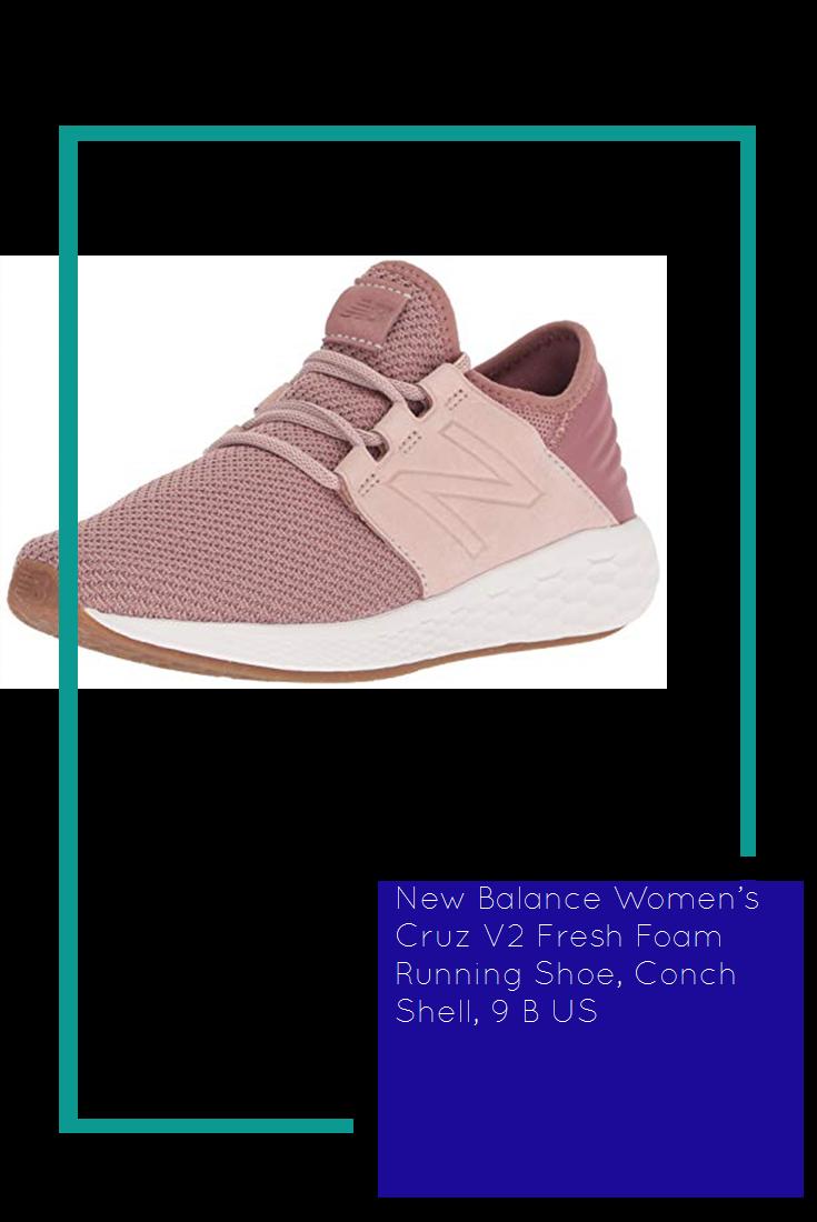 36ef0fe4a4f73 New Balance Women's Cruz V2 Fresh Foam Running Shoe, Conch Shell, 9 B US
