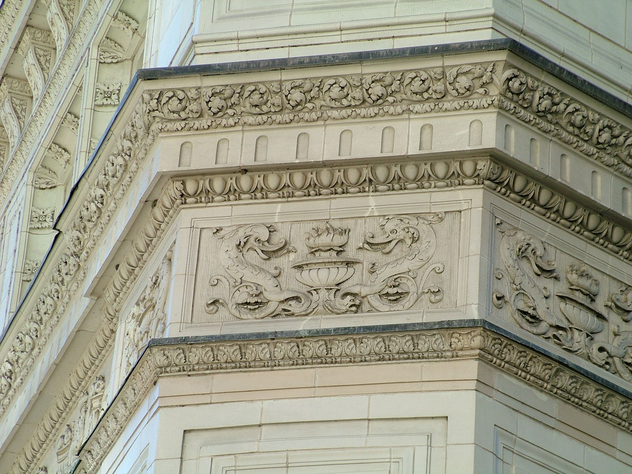 Wrigley Building detail