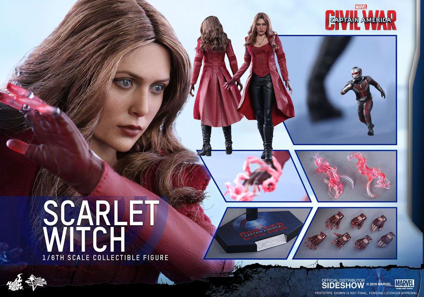 Marvel Scarlet Witch Sixth Scale Figure By Hot Toys Sideshow