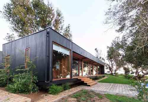 Casa prefabricadas viviendas premoldeadas construccion seca metal corrugado pinterest - Viviendas modernas prefabricadas ...