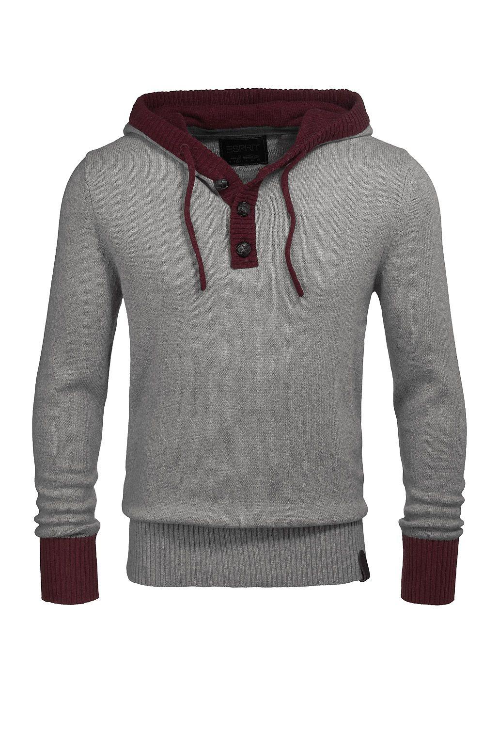 Strick-Hoodie mit Angora CASUAL - Esprit Online-Shop ...