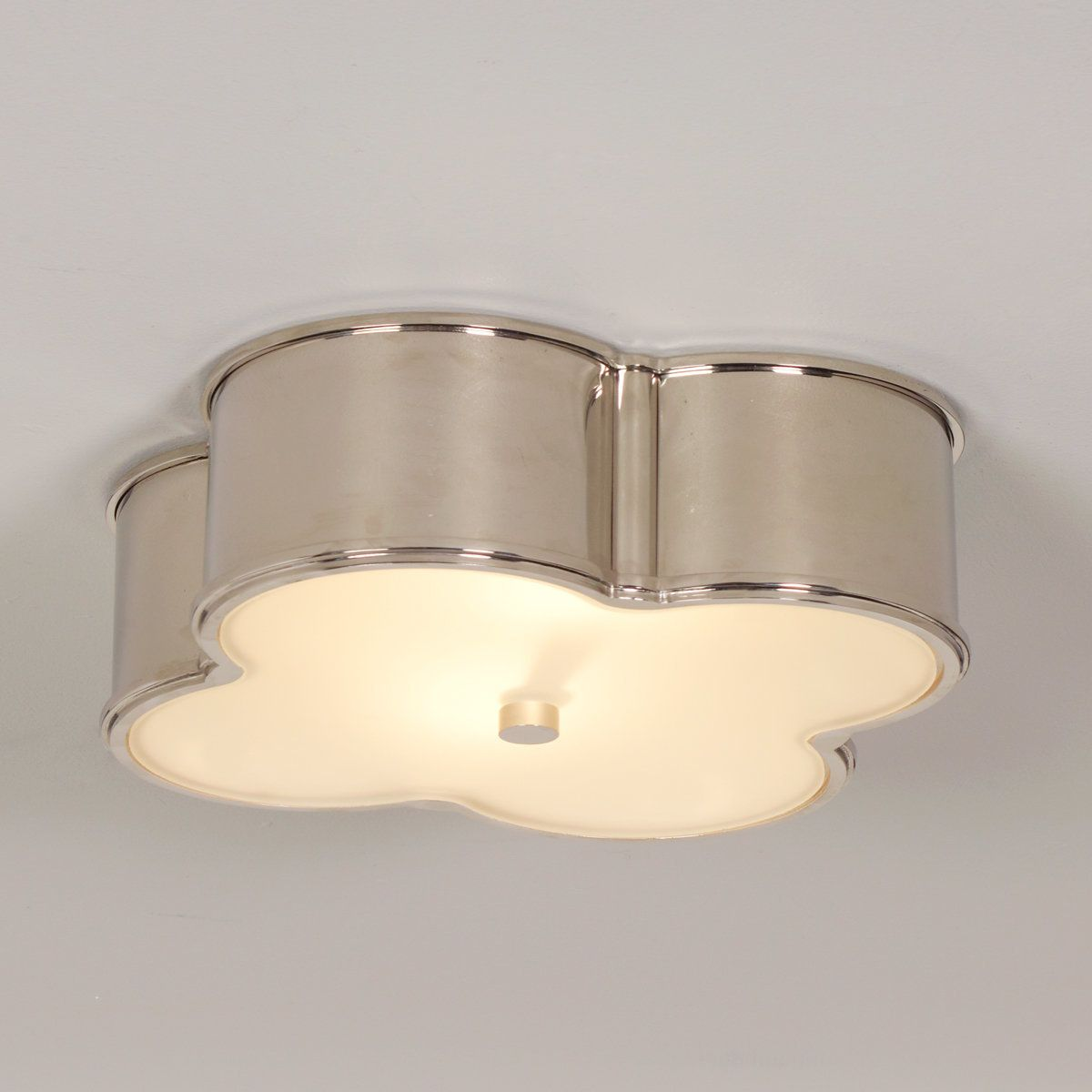 Scalloped Metal Ceiling Light - Large polished_nickel
