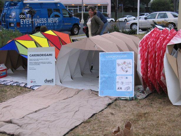 Cardborigami Instant Space Tina Hovsepian Aia Archinect Homeless Shelter Design Shelter Design Portable Shelter