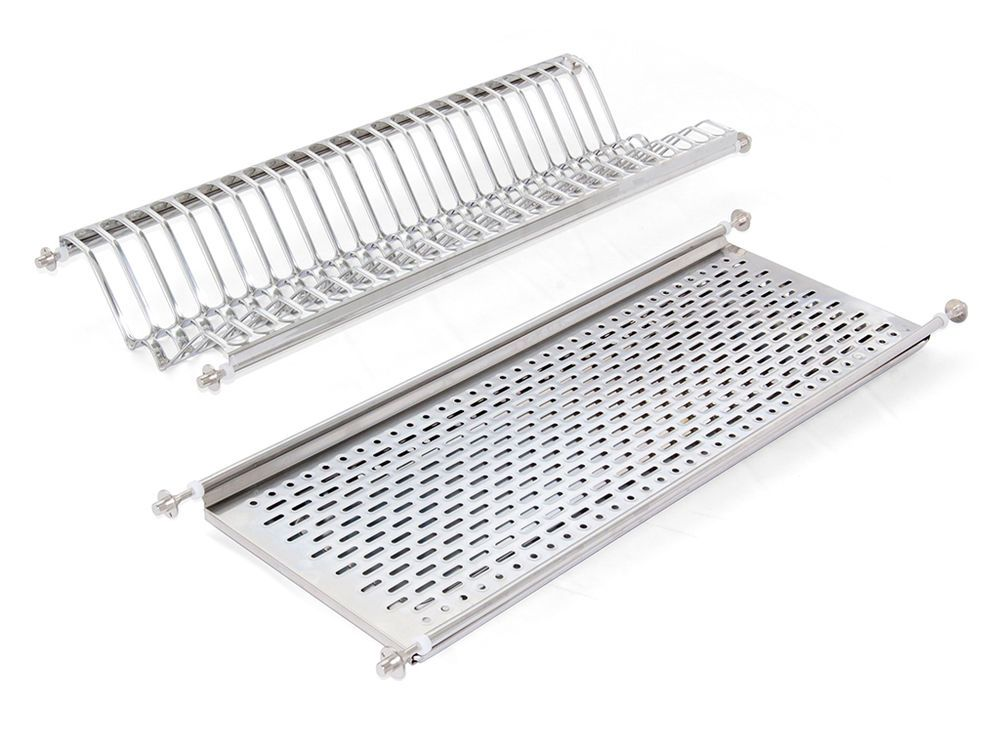 Details About Emuca Stainless Steel Dish Drying Rack For Standard