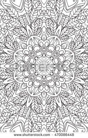Mandala background. Round Ornament.Coloring book for adults. Oriental pattern, vector illustration. Islam,arabic, Indian, turkish, pakistan, chinese, ottoman motifs.