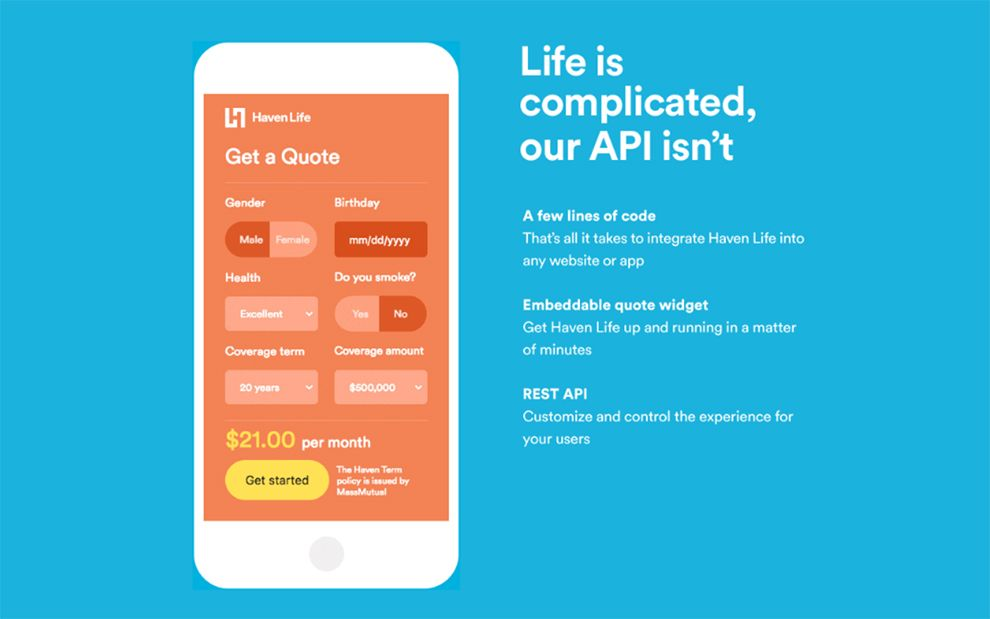 Haven Life Api Https Www Programmableweb Com News Daily Api