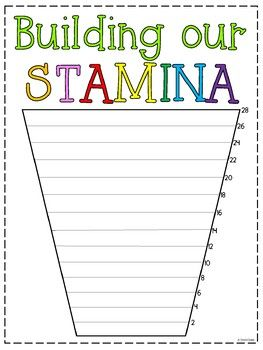 Read To Self Stamina Chart Read To Self Reading Stamina Chart Reading Stamina
