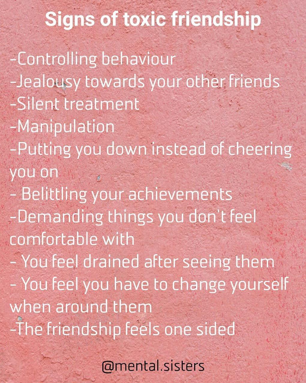 Friendship symptoms toxic Toxic Friends