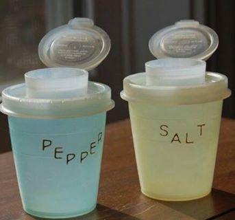 Vintage Rubbermaid Salt Pepper Shakers Happy Days Vintage