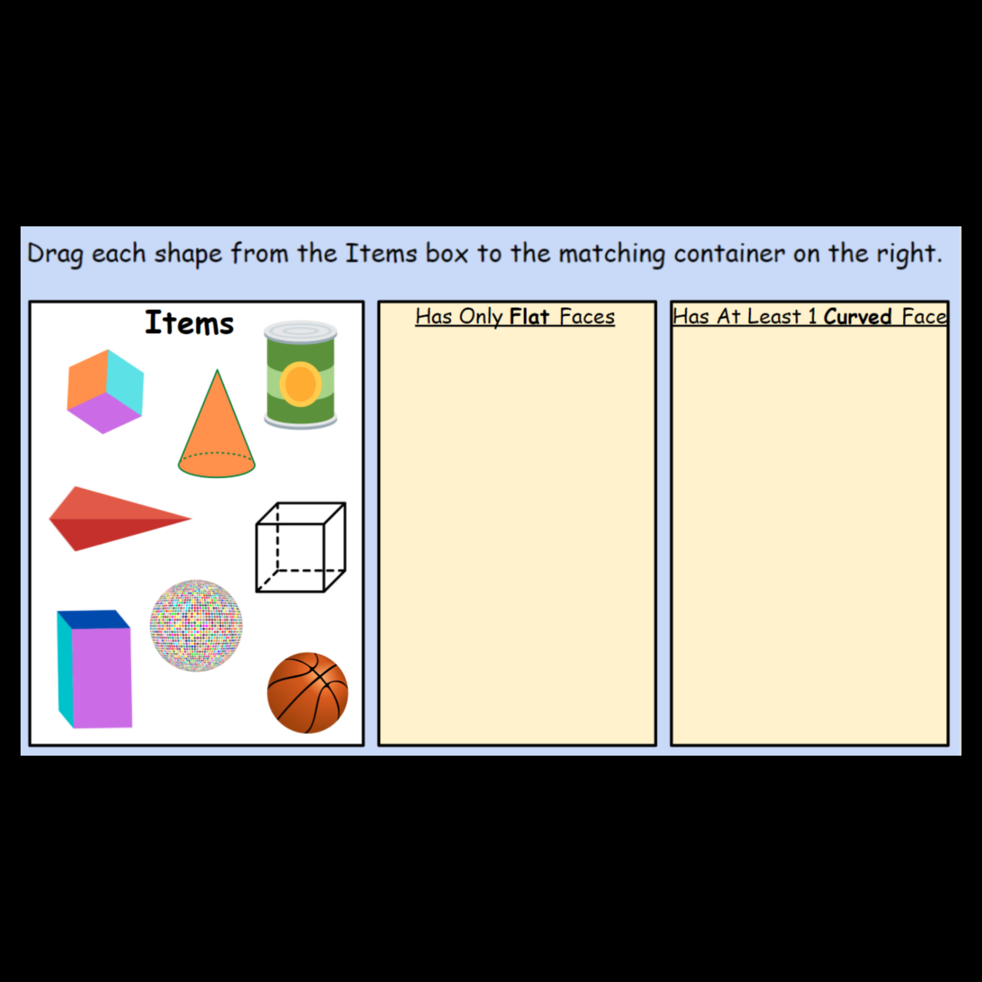 3 D Shape Sorting By Attributes