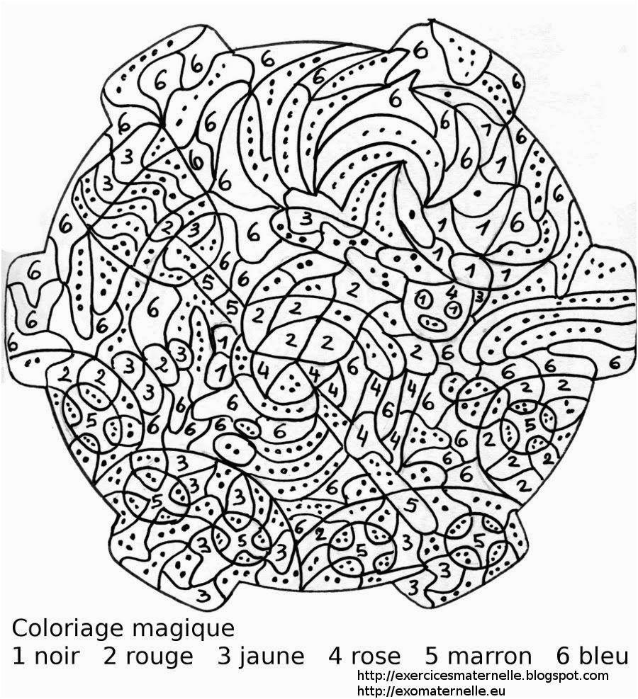 Coloriage Numerote Adulte