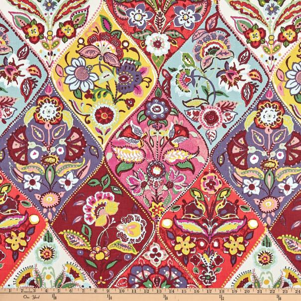 STOF France Polina Basketweave Multicolor - Fabric.com