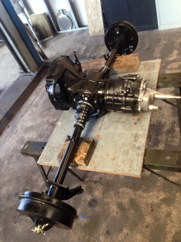 Rebuild gearbox with straight axle kit and new brakes ready to go