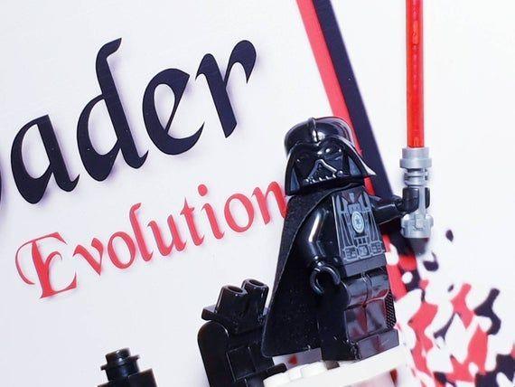 Framed wall art, Superhero, Minifigure Lego Star Wars, Gift for Boys, Man cave ideas, Gift fo…