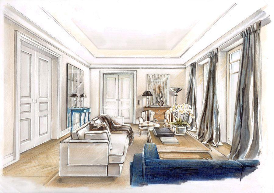 Raumkonzepte Peter Buchberger / Project: Villa Art Deco | sketches ...