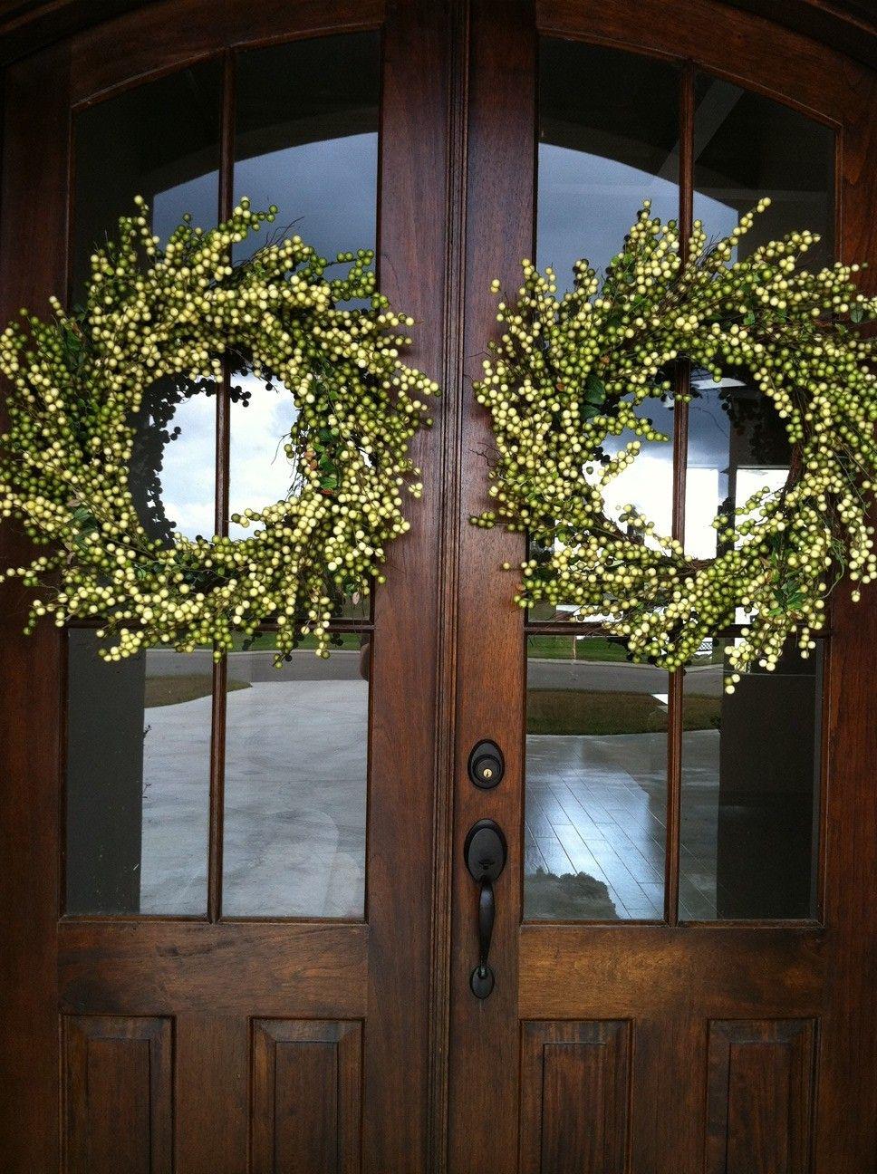 Hobby Lobby Christmas Wreath X 2 Double Door Wreaths Door Wreaths Burlap Spring Door Wreaths