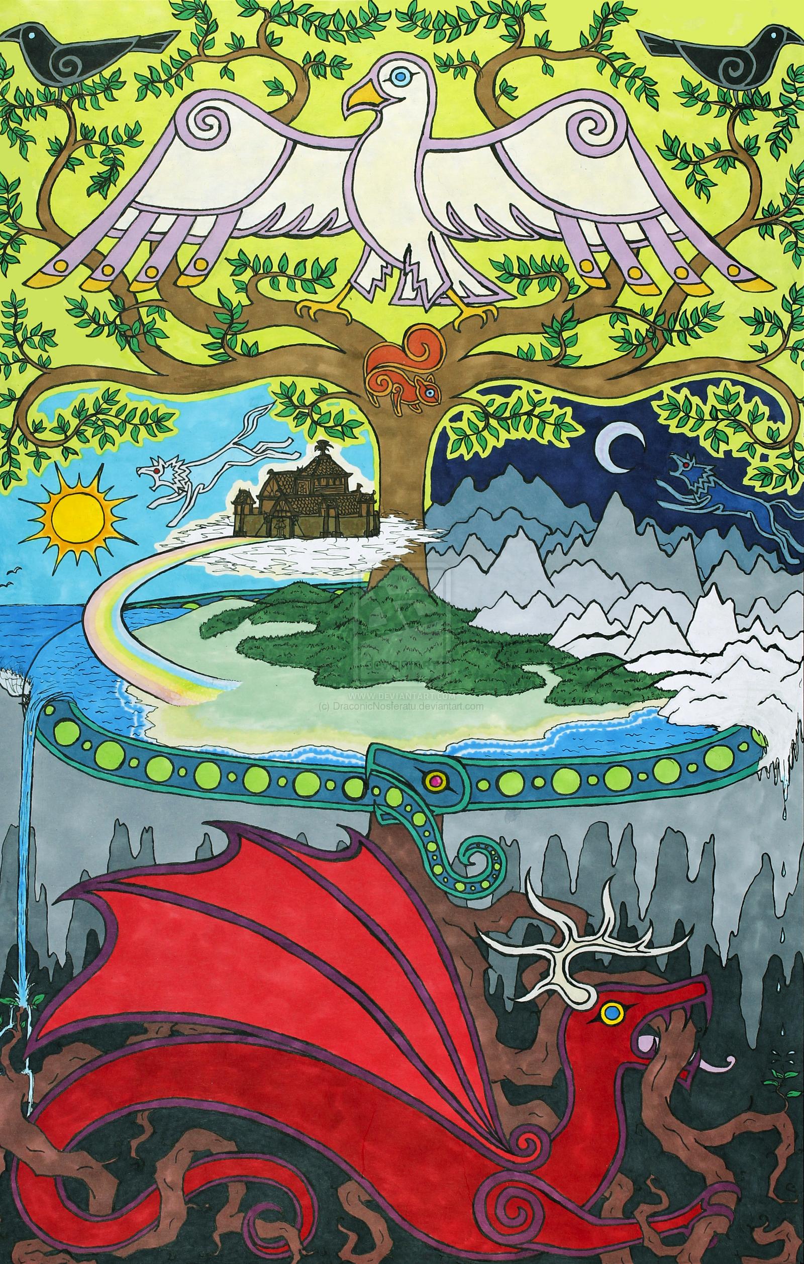 Norse World By Draconicnosferatuviantart