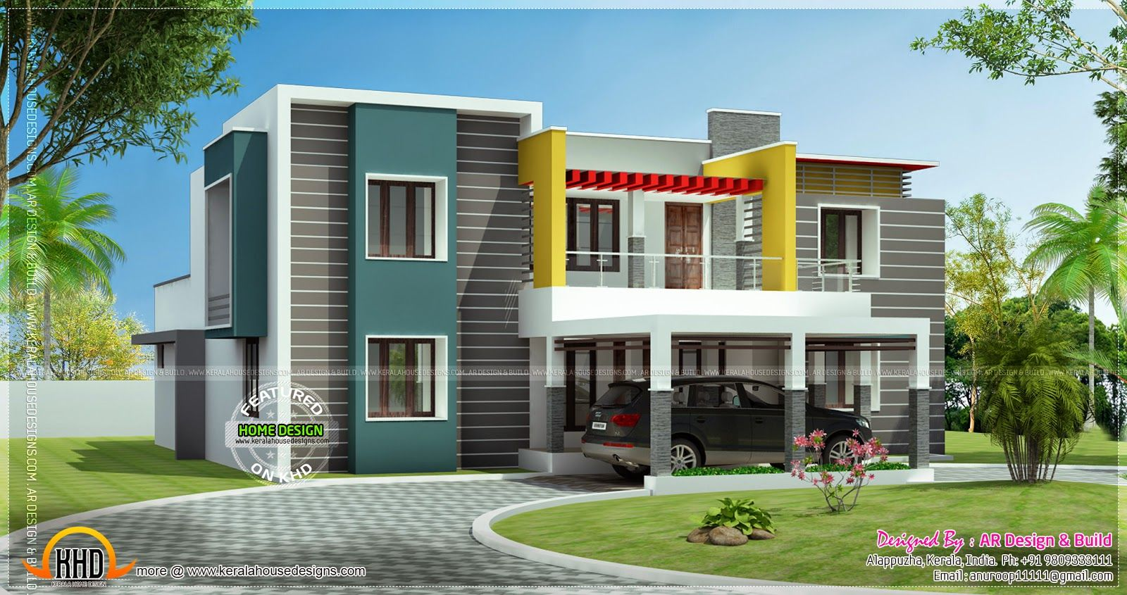 Modern 1600 845 residence elevations for First floor house plans in india