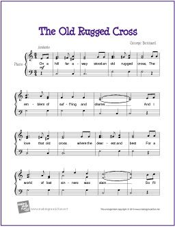 Awesome The Old Rugged Cross | Free Sheet Music For Piano