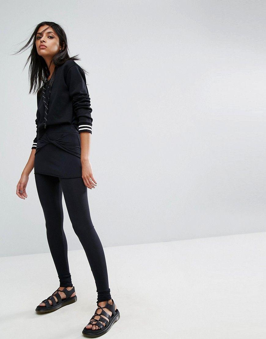 48234c6ea7474 ALLSAINTS RAFFI KNOTTED LEGGINGS - BLACK. #allsaints #cloth ...