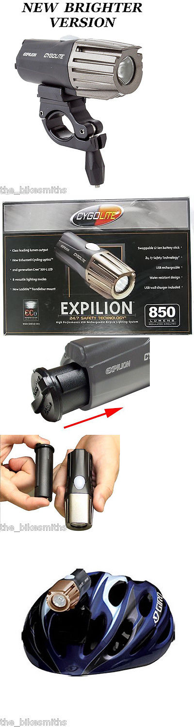Lights and Reflectors 22689: Cygolite Expilion 850 Lumens Usb Rechargeable Bike Headlight And Helmet Mount BUY IT NOW ONLY: $79.75