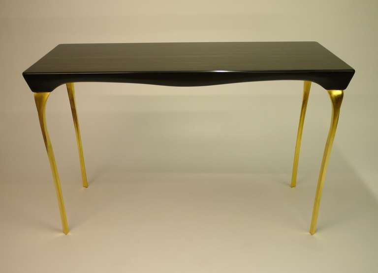 Contemporary Black And Gold Console Table By Kinsley Byrne From A Unique Collection Of Antique And Modern Console T Console Table Modern Console Tables Table