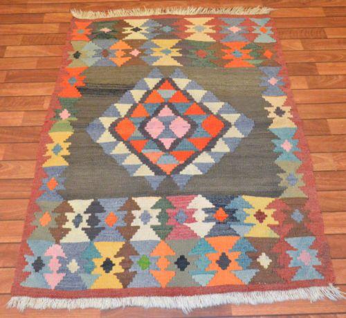 Turkish-Hand-Woven-Kilim-Rug-40-x-54-Vintage-Wool-Anatolia-Rug-3-3-x-4-5