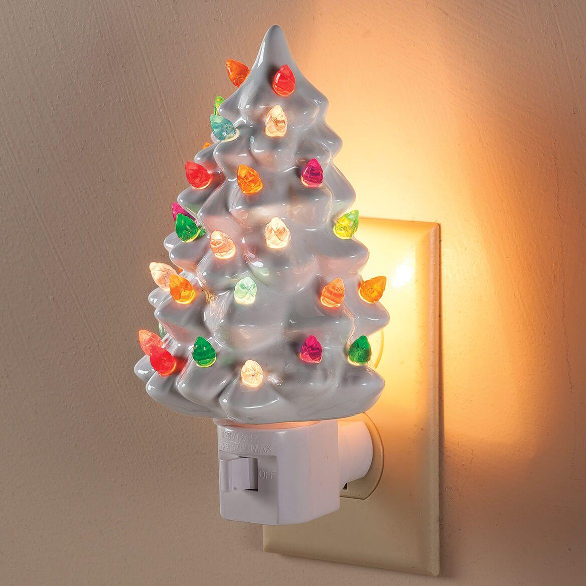 White Ceramic Tree Night Light Ceramic Tree Walter Drake Christmas Tree Night Light Christmas Night Light Hanging Christmas Lights
