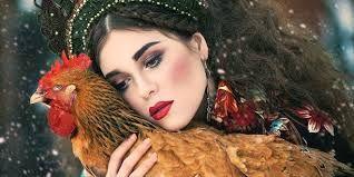 Bildergebnis für lady with hen