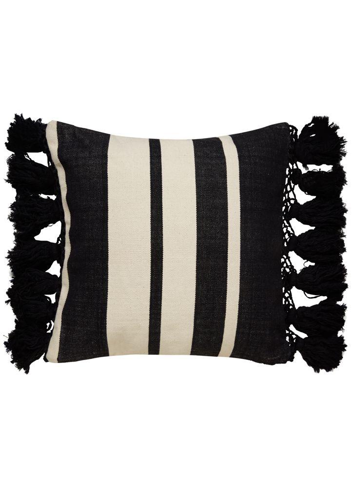 Interior Design Ideas Tassel Pillow Elegant Throw Pillows Stripe Pillow