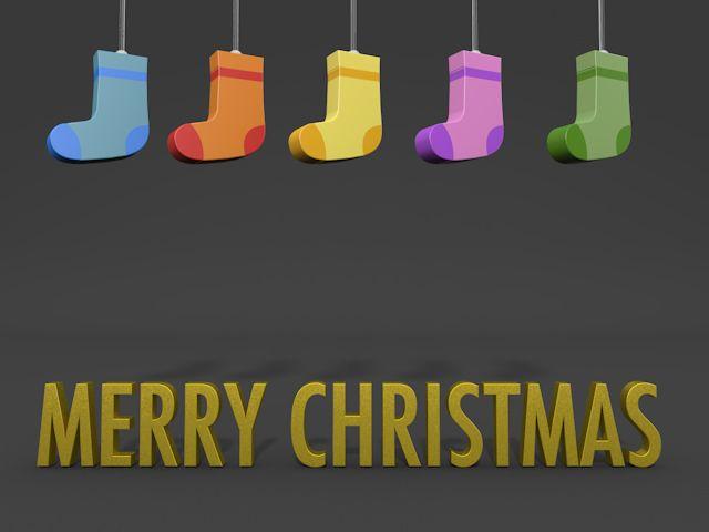 メリークリスマス/靴下 / クリップアート/画像/アイコン